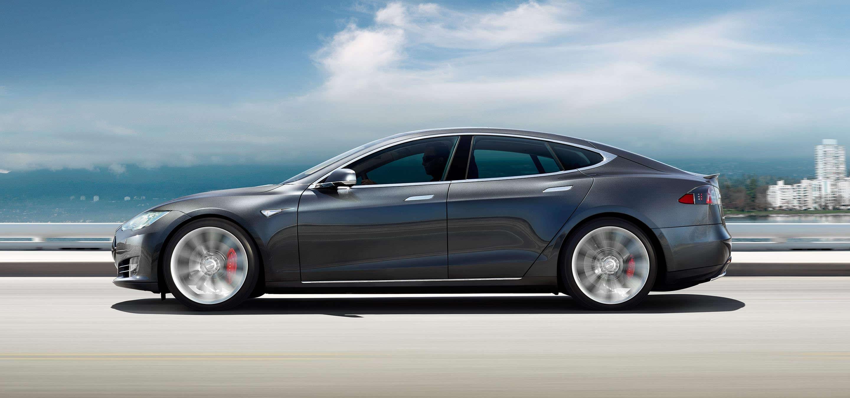 Tesla Model S - blue