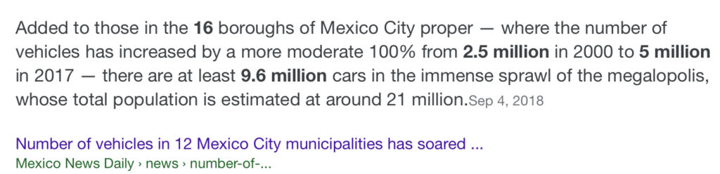 Number of vehicles and population in Mexico City - Mexico News Daily