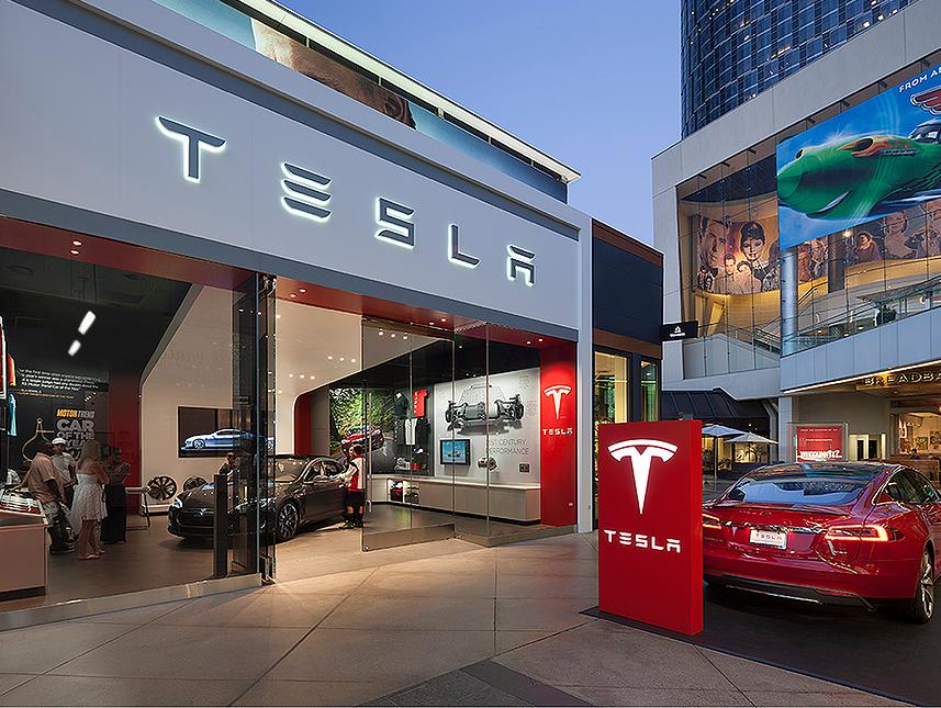 Tesla showroom MBH Architects