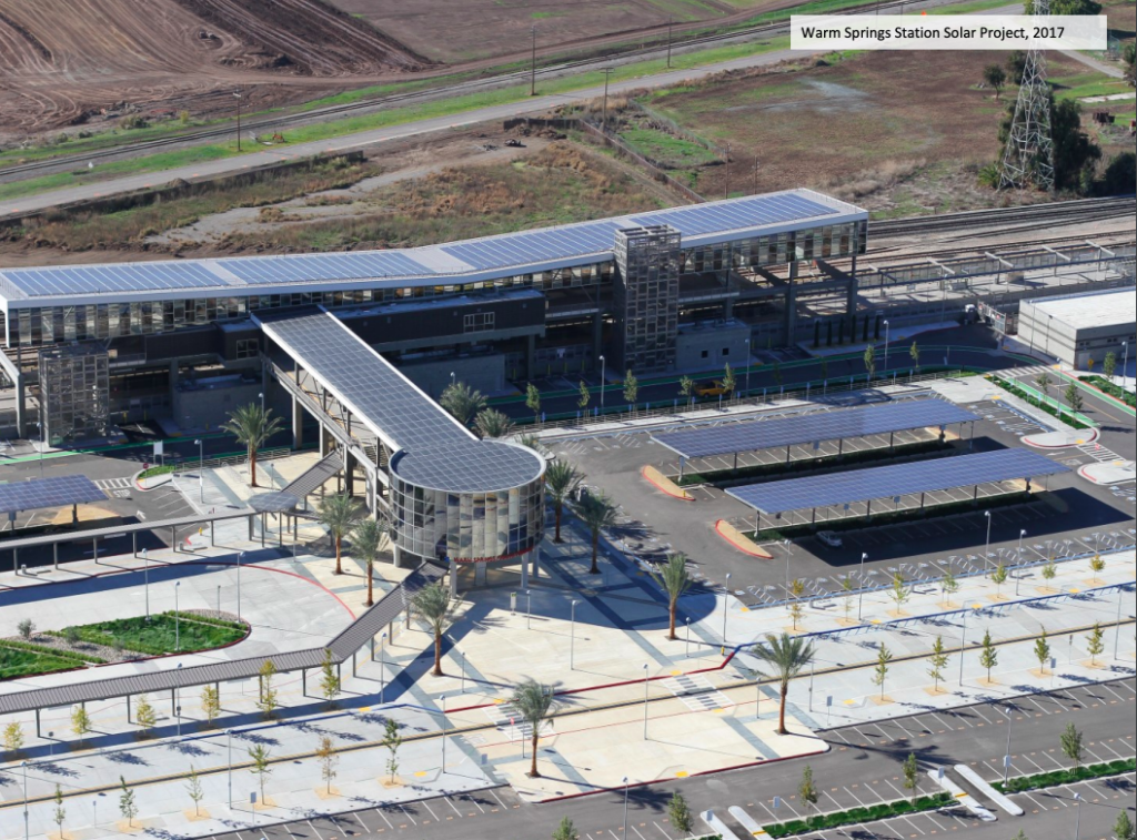 Fremont Warm Springs BART Station Parking Lot-Solar