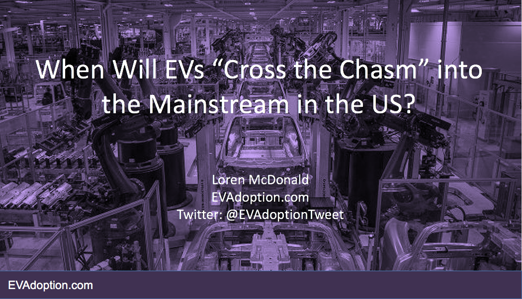 """Presentation: """"When Will EVs 'Cross the Chasm' Into the Mainstream in the US?"""""""