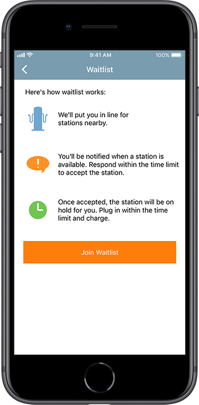 ChargePoint app waitlist