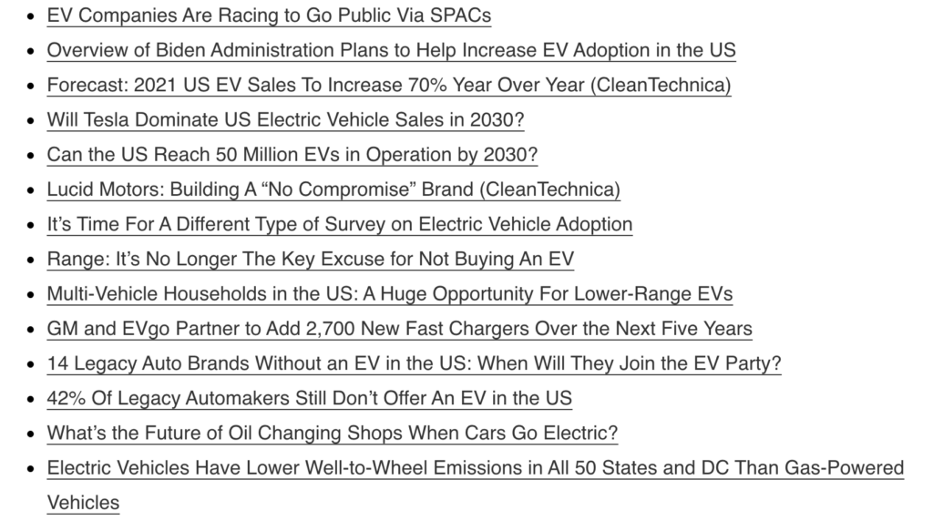 2020 Blog posts screenshot