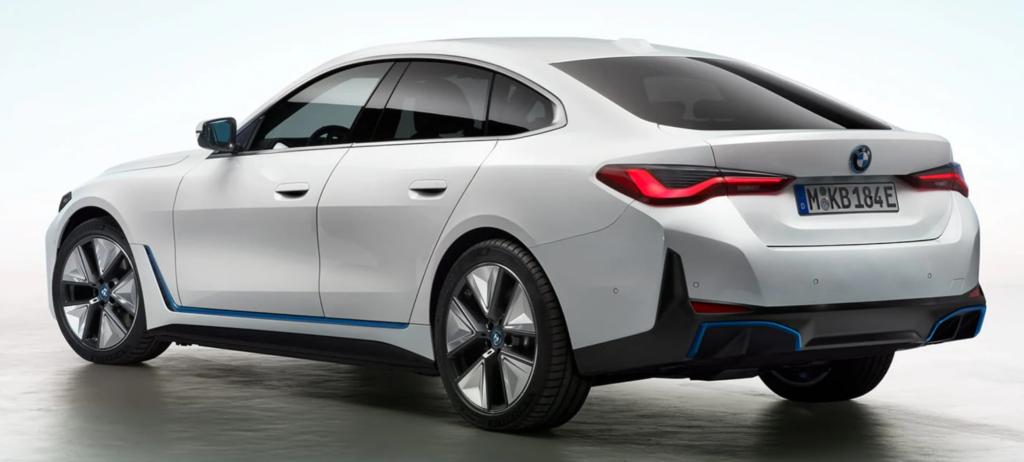 BMW i4 side rear shot