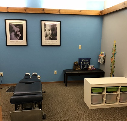 Frain Family Chiropractic Family Adjusting room for initial chiropractic visit