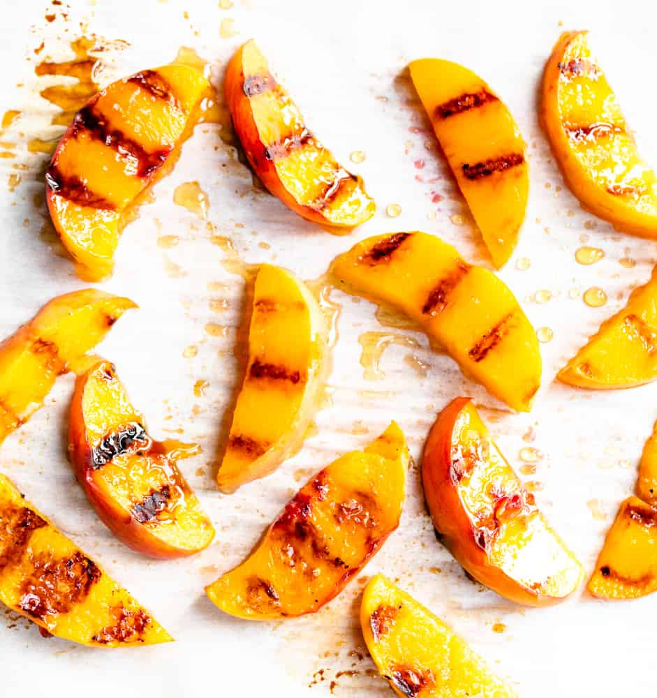 grilled peaches recipe, grilled peaches dessert, grilled peaches with balsamic