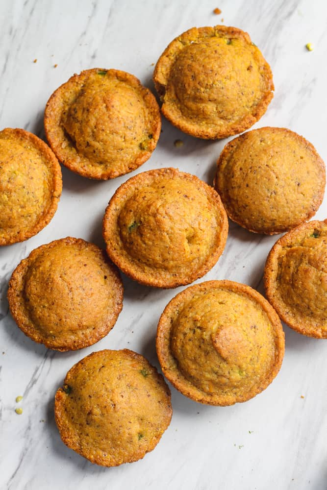 cornbread muffins recipe  with jalapenos and vegan cheese
