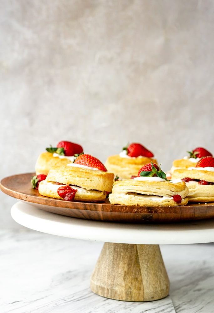 immaculate biscuits, strawberry jam, coconut whipped cream