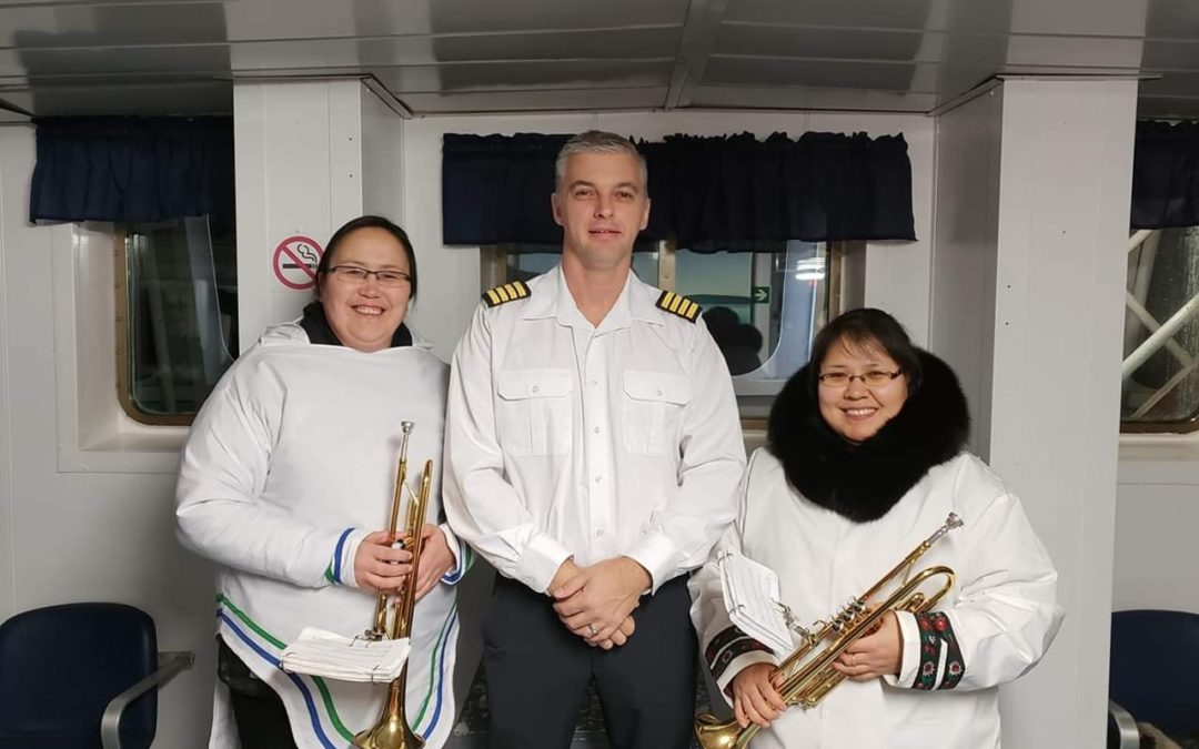 MV Northern Ranger honoured by Nain Brass Band