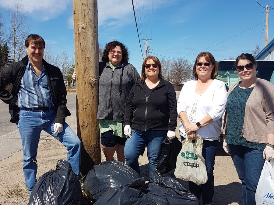 NGC Happy Valley-Goose Bay staff assist with cleanup