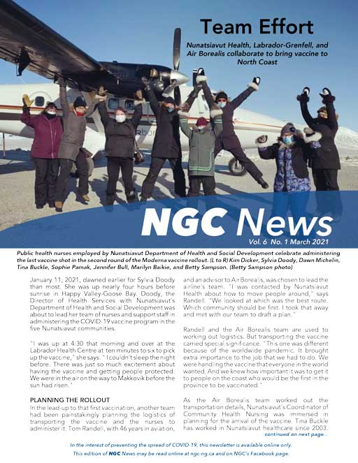READ THE LATEST NGC NEWSLETTER – VOL. 6, #1
