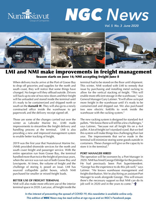 Read the latest NGC Newsletter – VOL. 5, #3