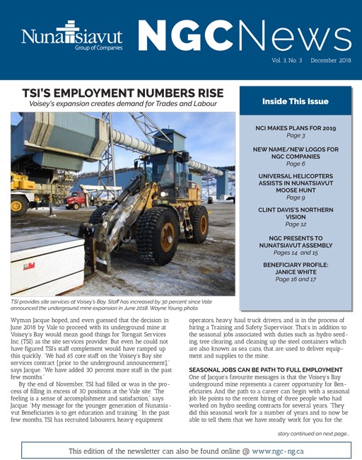 Read the latest NGC newsletter – VOL. 3, #3
