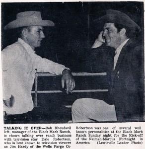 Bob Rheudasil & Dale Robertson