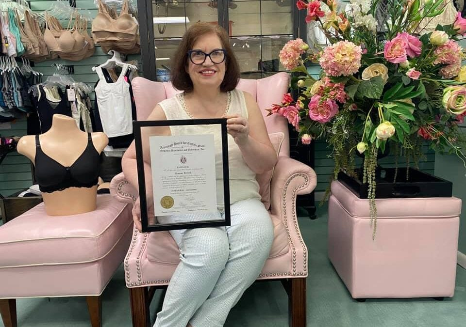 25 Years and continuing in this phenomenal business! Ramona is the owner and one of the Certified Mastectomy fitters at the shop in Greensboro NC for after breast surgery patients. Please read her story here: