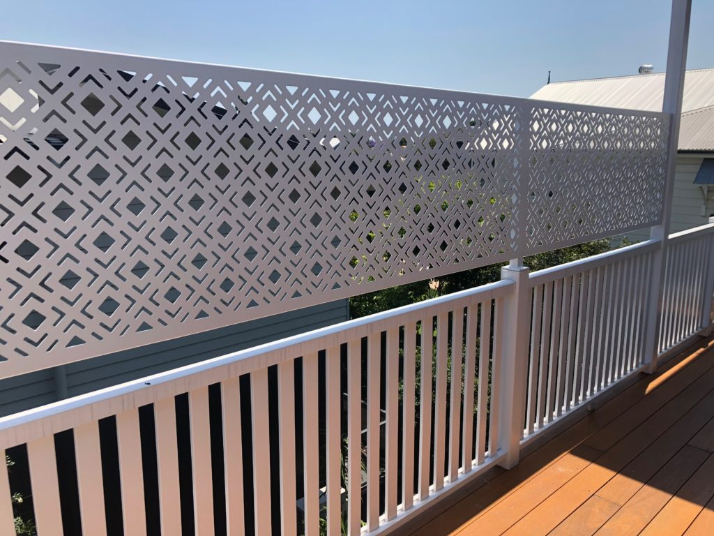 deck privacy screen before