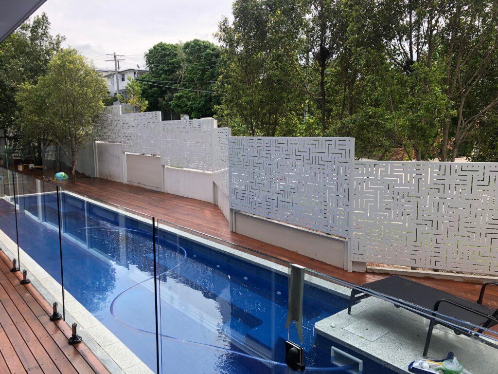 aluminium privacy pool screens