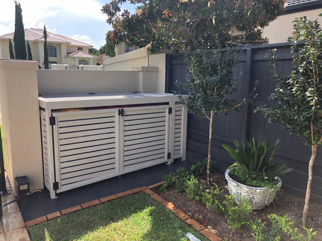 wheelie bin enclosure