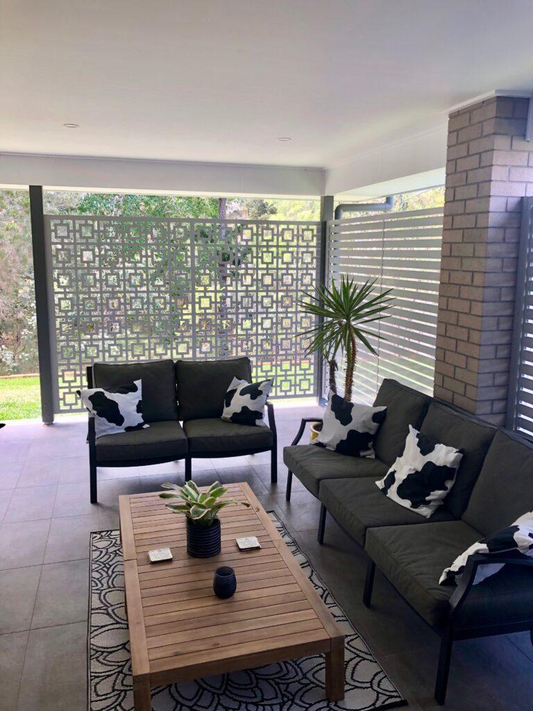 Outdoor patio screens