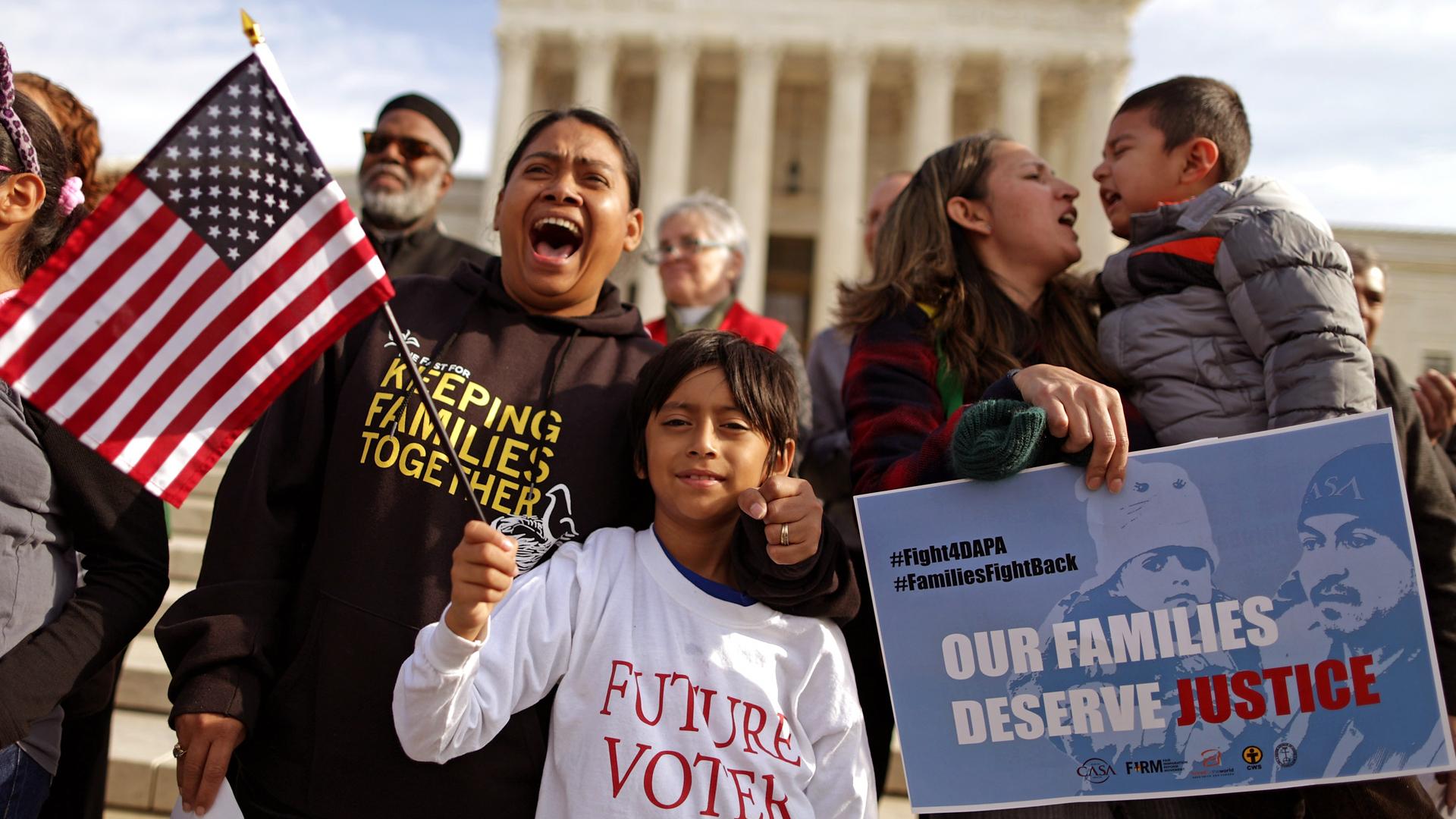 estados unidos y familias migrantes