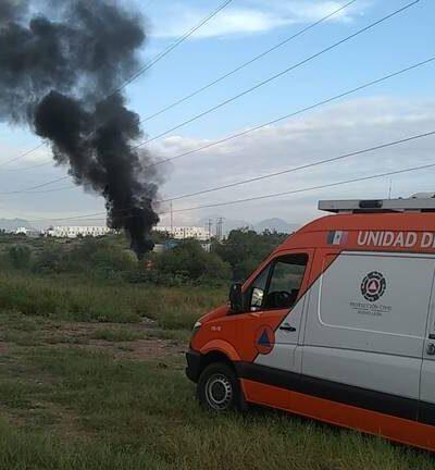 incendio en ducto de Pemex en Apodaca