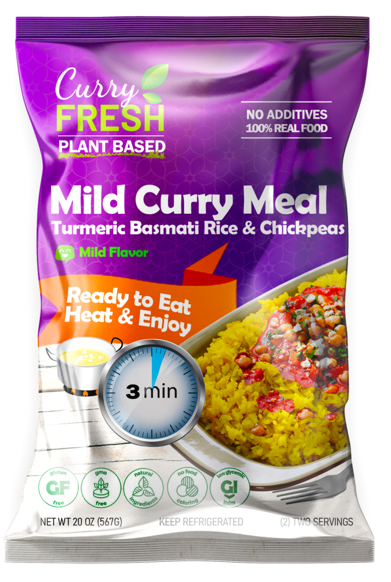 Mild Curry Meal with Chickpeas