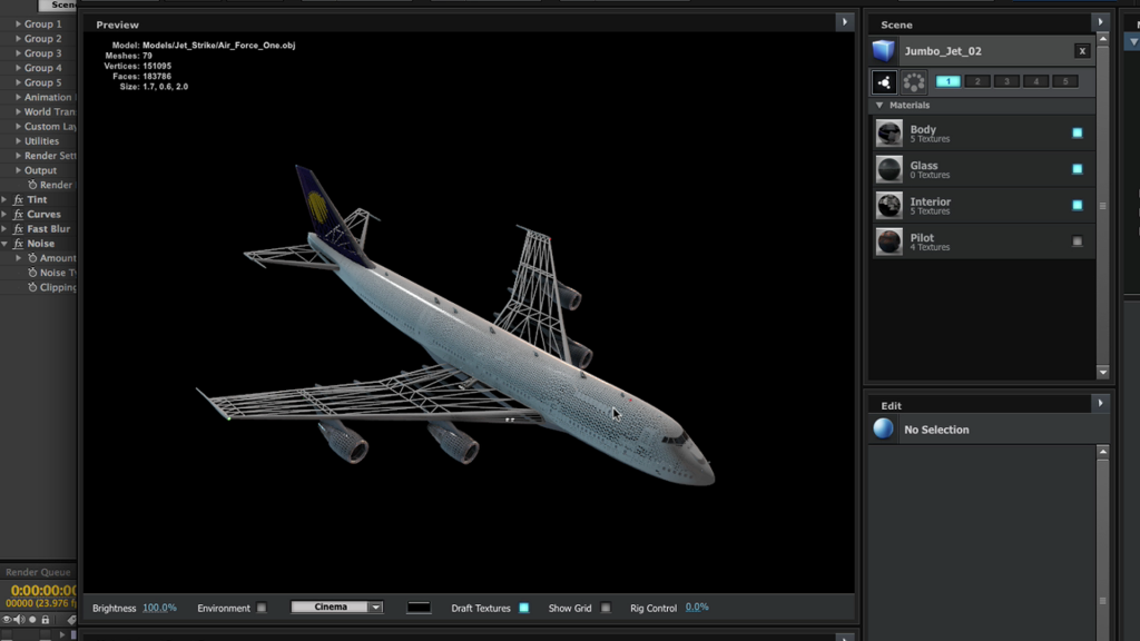 Jet modeling in Element 3D