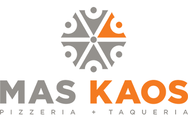 MAS KAOS Pizzeria + Taqueria Logo