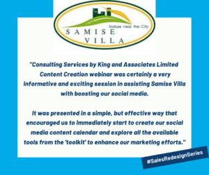 Testimonial by Samise Villa