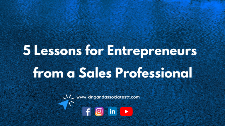 5 Lessons for Entrepreneurs from Sales Professionals