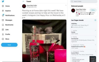 Virtual happy hour with Vegas Baby Vodka