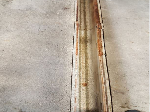 gutter joint in concrete floor