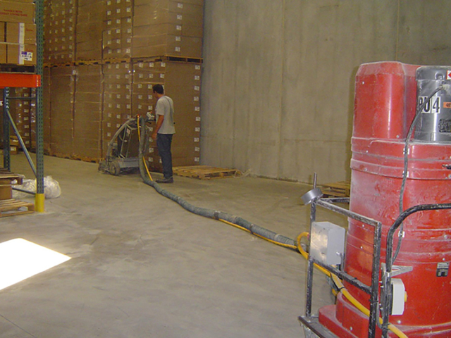 Floor polishing in Jackson warehouse