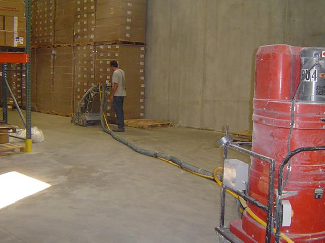 Floor polishing in Jackson warehouse