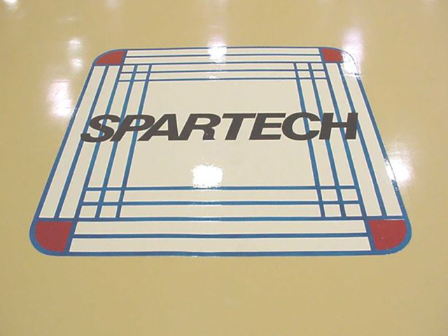 Spartech Finished floor with logo