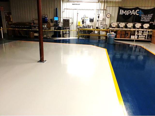 WS Packaging aisles on concrete floor