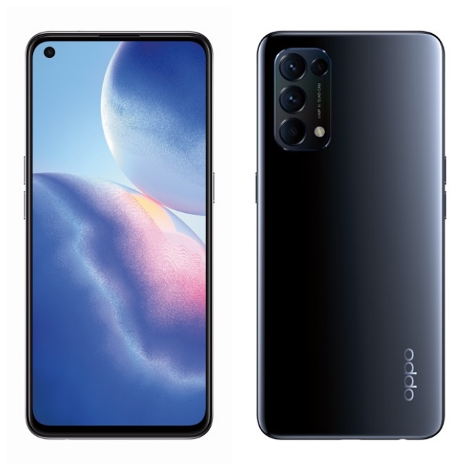 new oppo phone front and back