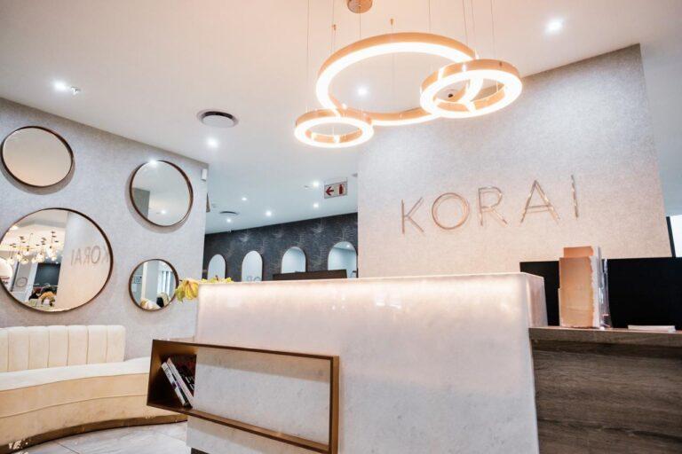 korai beauty salon reception area