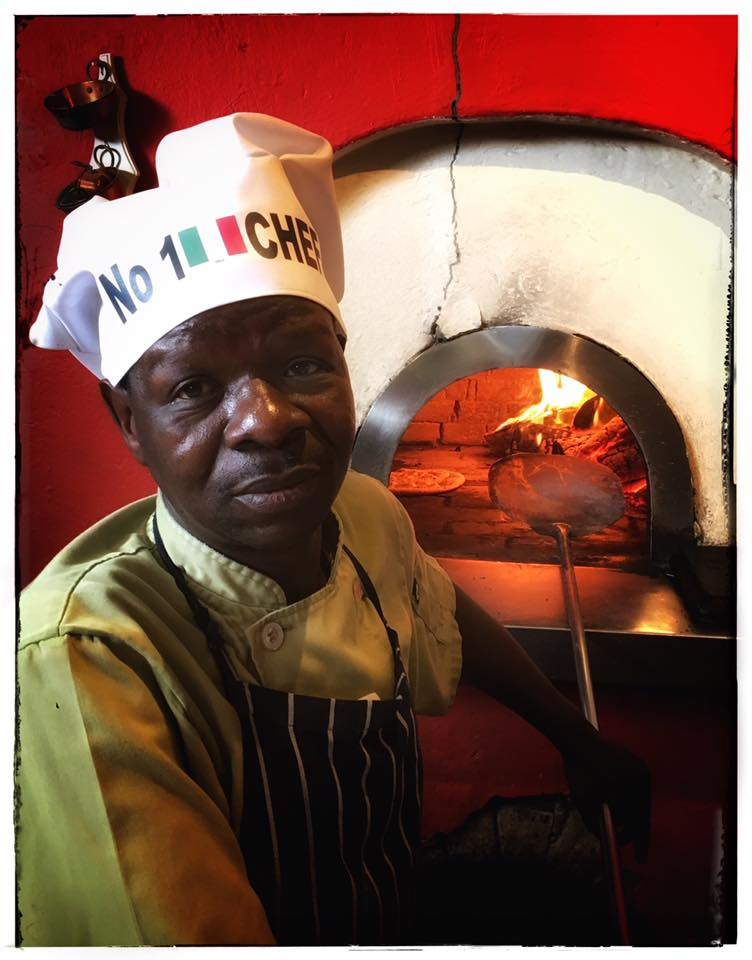 pizza chef at Francos Hello Joburg