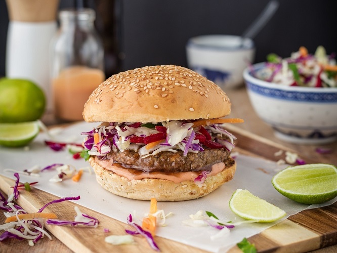 Fry's asian inspired burger featured image
