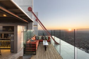view from the new rooftop bar in Sandton