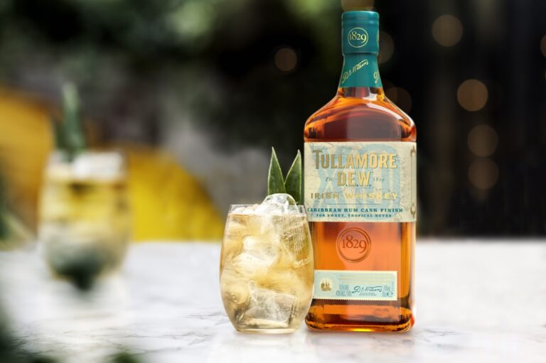Whisky bottle and cocktail