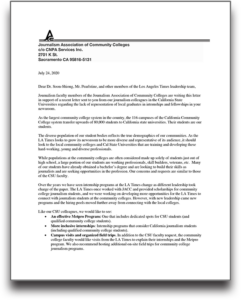 Letter from JACC to LAT thumbnail