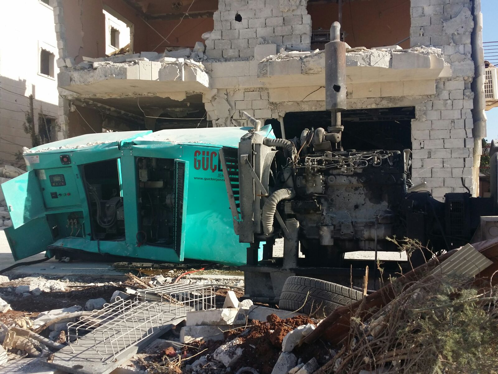 SRD Regional Hospital in Aleppo, Syria Damaged by Barrel Bombs