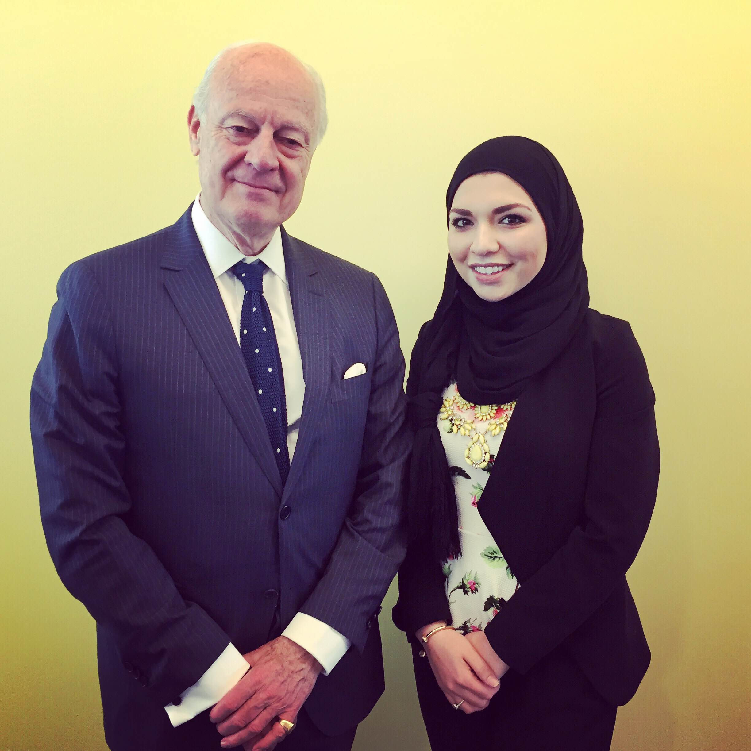 Advocacy and Outreach Coordinator Meets with UN Special Envoy de Mistura
