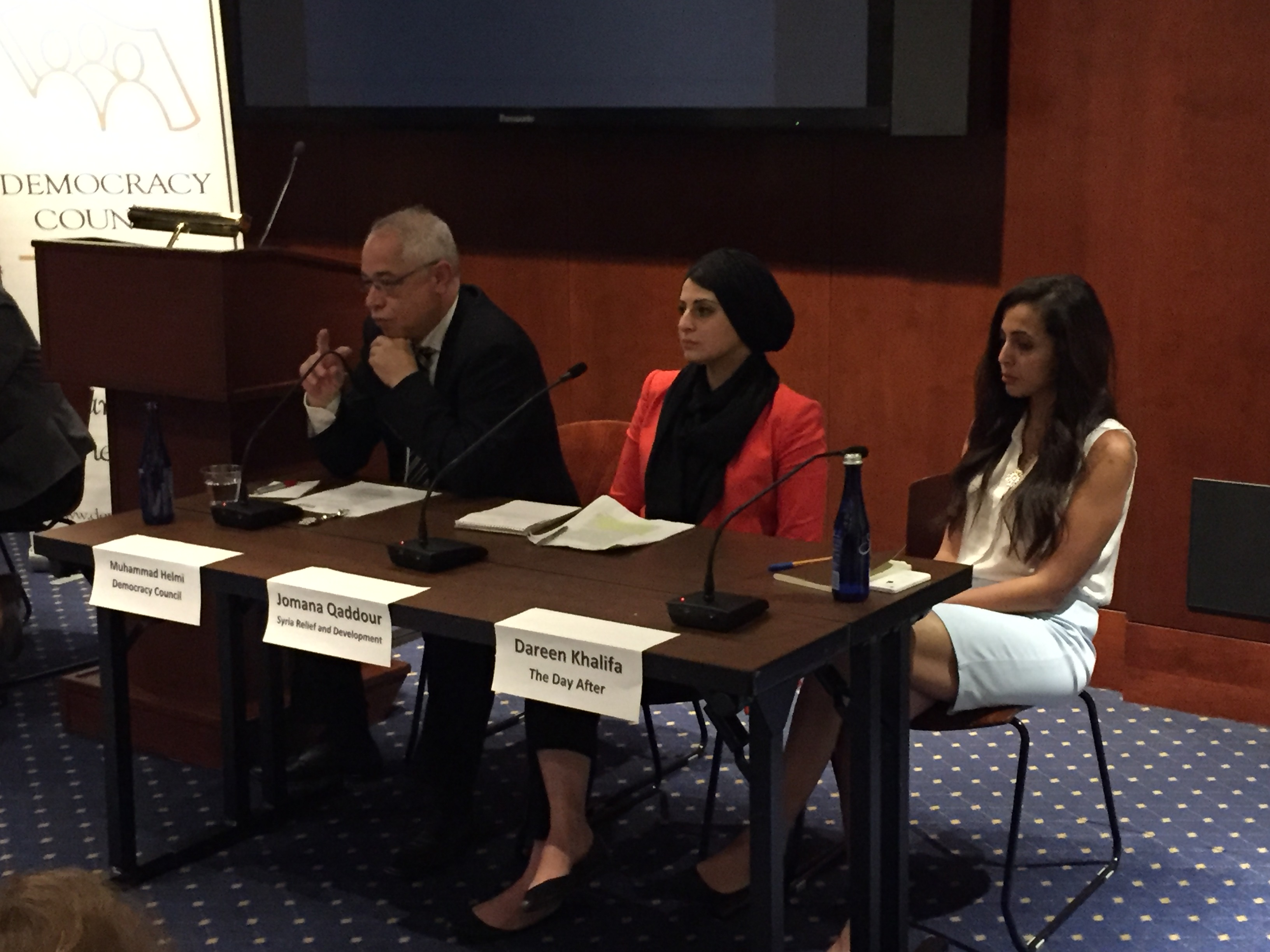 At Democracy Panel on Syria, Co-Founder Jomana Qaddour Discusses Education, Civil Society