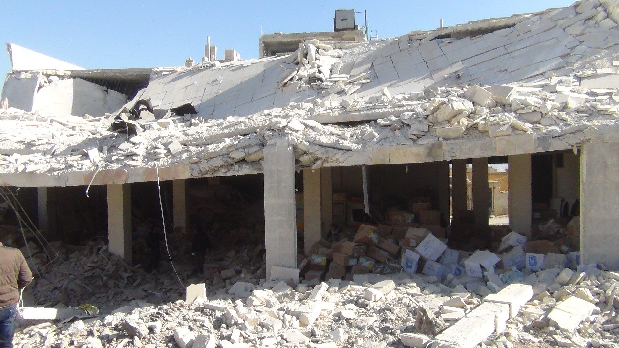 U.S.-Based Humanitarian Organization's Medical Supply Warehouse Destroyed in Aleppo, Syria