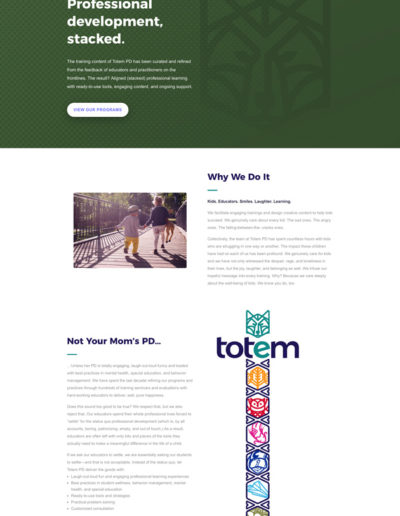 Totem About Page Layout