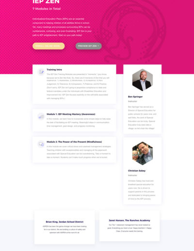 Totem IEP Zen Course Page Layout