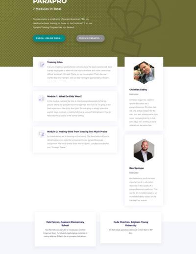 Totem Parapro Course Page Layout